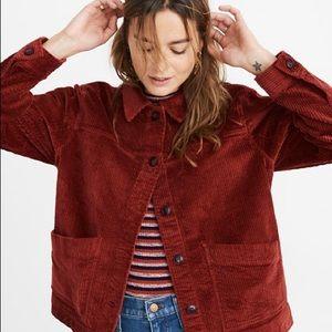 MADEWELL Corduroy 'Swing Chore Coat' Jacket